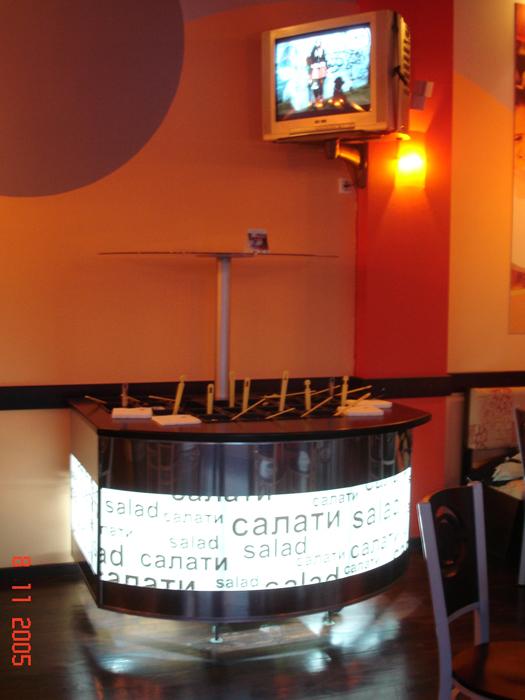 Картинка за Интериорно оформление на ресторант от веригата Pizza Hut
